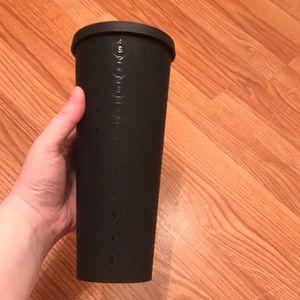 Starbucks matte black water bottle